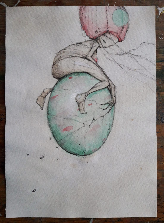 op een ei
