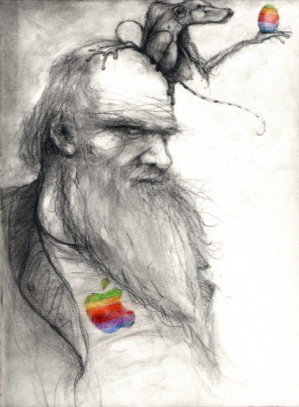 Darwin & Apple © Serge Kortenbroek