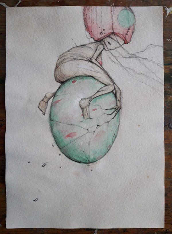 op een ei © Serge Kortenbroek