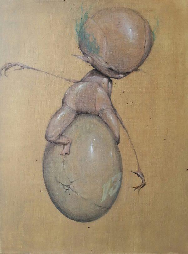 mannetje op ei © Serge Kortenbroek